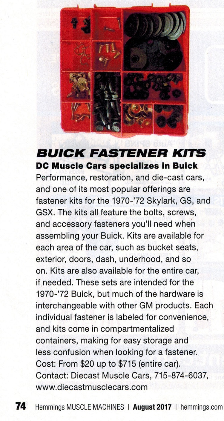 Buick Fasteners Mounted Glove Box Wiring Harness As Seen In Hemmings Muscle Machines Magazine